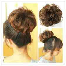 New Woman's Girl's Hairpiece  Rubber band inside Hair Bun Hair Extensions