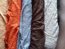 Quality stretch chenille lace fabric paisley design £8.49/m choice of 6 colours
