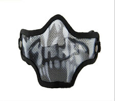 Outdoor Cycling Steel Wire Mesh Metal Mask Half Face Skull CS Camouflage Mask