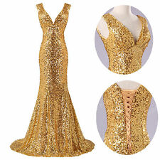 CHEAP Sequin Mermaid Formal Evening Long Gown Party Prom Bridesmaid Dress 2014 f