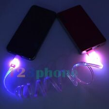 WHOLESALE LOT 10 100 LED LIGHT CHARGE CHARGER CABLE FOR IPHONE 6 6 PLUS 5S 5C 5