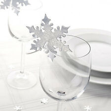 CHRISTMAS Snowflake Place Name Cards for Glasses Wedding Table Decorations