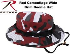 Red Camouflage Military Police Tactical Bucket Camping Hunting Boonie Hat 5548