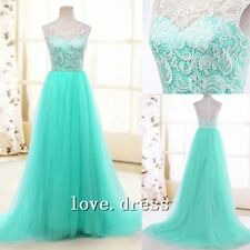 2014 New Blue Bridemaid Dress Prom Dress Evening Gown Custom All Size/Color