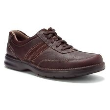 New! Clarks Slone Mens Casual Oxford Shoes Brown Oily Nubuck Sz 8-1/2 - 13 Med