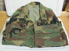 USED Military Fatiques Camo Long Sleeve Button Up Shirt Size Small Camoflage Sz