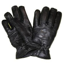 MENS WOMENS PREMIUM LEATHER WINTER DRIVING INSULATED GLOVES EVERYDAY USE - V7N