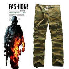 Hot Selling New Casual Mens Military Army Cargo Camo Combat Work Trousers Pants