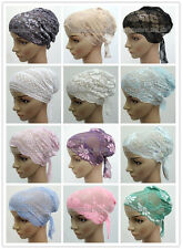 Wholesale Retail Lace Bandage Muslim Inner Hijab Caps Islamic Underscarf Hats