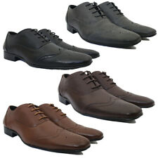 MENS FORMAL SHOES NEW GIO GINO POINTED OFFICE PARTYWEAR LACE UP ALL SIZE 6 TO 11