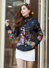 HOT!Women's winter fashion short coat jacket cotton jacket flower pattern