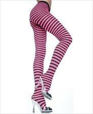 VARIOUS COLOURS Sex y Striped Nylon Opaque Tights / Pantyhose Fancy Dress Props