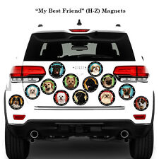 My Best Friend Vibrant Color Favorite Dog Car, Refrigerator Magnets (Breeds H-Z)