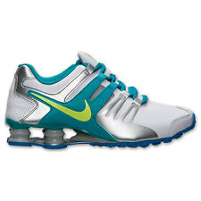 Nike Shox Current White Teal Volt Ice Silver #639657 101 Womens Running Shoes sz