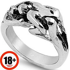 Stainless Steel Kama Sutra Sex Sexual Erotic Position Porn Star Ring Size 5-17