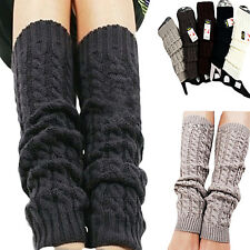 Women's Girls Charismatic Trendy Fashion Winter Knit Crochet Leg Warmers Legging