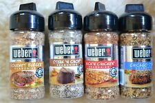 Weber All Natural Seasoning Made With 100% Sea Salt and Gluten Free, 4 Flavors