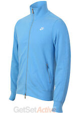 Nike Mens Full Zip Sky Blue Cotton Tracksuit Top Sports Training Jacket New