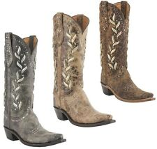 Lucchese M4620 / M4621 / M4622 Womens Studded Calf Leather Western Cowboy Boots