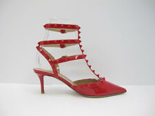Valentino 65MM Rockstud Patent Leather Pumps in Red