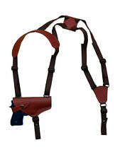 NEW Barsony Horizontal Burgundy Leather Shoulder Holster Colt Browning Full Size
