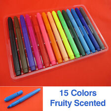 15 SCENTED MARKERS Painting Drawing Waterproof Art Craft White Board Highlighter