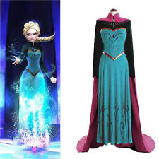 Disney Movie Frozen Anna Coronation Dress Made Cosplay Costume For Adult Womens