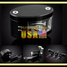 US CNC Motorcycle Front Brake Reservoir Fluid Master Cylinder 7 Color Universal