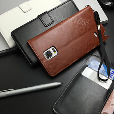 Wallet Flip Folio Leather Case Stand Cover For Samsung Galaxy Note 4 3 2 III Neo