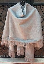 BIG SALE!!! BABY ALPACA WOOL SOUTH AMERICAN PONCHO CAPE WRAP SHAWL COAT HANDMADE