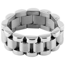 Stainless Steel Link Chain Unique Design Stylish Elegant Band Ring Sizes 7-15