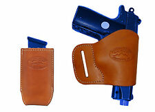 NEW BarsonyTan Leather Yaqui Holster + Mag Pouch Colt 380 UltraCompact 9mm 40 45