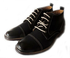 NEW MEN CHUKKA LACE UP ANKLE BOOTS CASUAL LEATHER LINED COMFORT DRESS OXFORD