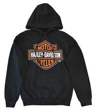 Harley-Davidson Men's Hooded Sweatshirt, Pullover Bar & Shield, Black 30298035