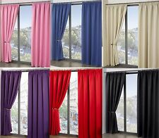 Blackout Thermal Self Lined Tape Top Pencil Pleat Ready Made Curtains