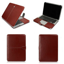 """Brown Leather Laptop Back Cover Case Skin For Apple Macbook AIR 11""""/ PRO 13 15"""