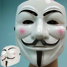 V For Vendetta Movie Costume Face Masks Guy Fawkes Anonymous Halloween Cosplay