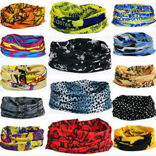 Unisex Sport Turban Bandana Magic Headband Wrap Tube Mask Cap Veil Head Scarf