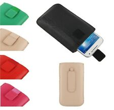 Pouch Case Lines Embossing + Belt Clip + Pull Tab VELCRO para   Nokia Lumia 925
