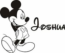 Mickey Mouse Personalised Wall Art Sticker / Vinyl Decal ADD YOUR OWN NAME