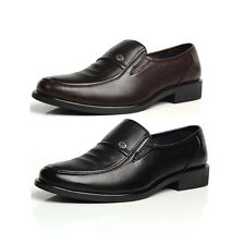 New Men's Business Formal Dress Leather Shoes Slip-On Loafers Free Shipping