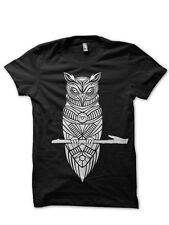 TWIN PEAKS OWL WITH PETROGLYPH T-shirt Mens BLACK - Small to XXL Available