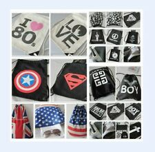 Black&White Drawstring Backpack B&W Shopping bag Handbag EXO GD BIGBANG Bag KPOP