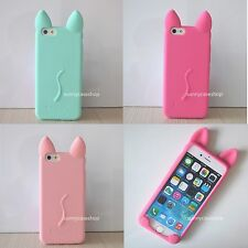 New hot Cute Cartoon Cat Ear Soft Silicone Case cover for iphone 7 6 6S plus 5s