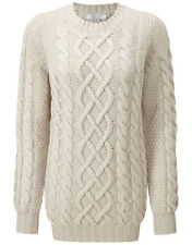 CO/AT Ladies' Vierson Cable Knit Cashmere Sweater – Swansdown