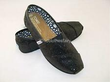 Free Shipping Latest TOMS Glitters Women's Black Sequins Canvas Shoes