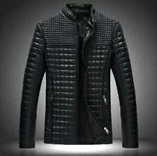 2014 Hot sale new fashion Mens slim jacket winter thicken PU leather warm coat