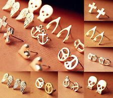 Fad New Fashion The retro jewelry Wishing earrings skull cross earrings Free
