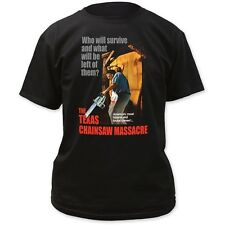 Texas Chainsaw Massacre Who Survive Horror Movie Poster Logo Title T-shirt top