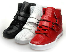 Men Fashion Hollow Out Buckle Strap Lace Up Skateboard Sneaker Boots Shoes UK9.5